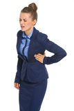 Business woman with chest pain Royalty Free Stock Photo