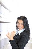 Business woman,choose the document Stock Photo