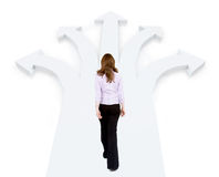 Business woman choosing different ways Royalty Free Stock Photography