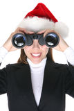 Business Woman at Christmas Stock Images