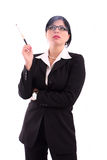 Business woman with cigarette Stock Image