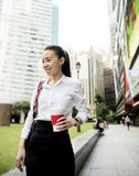 Business woman in a city stock photography