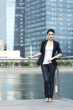 Business woman in the city Royalty Free Stock Photo