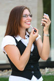 Business woman in the city Royalty Free Stock Photography