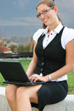 Business woman in the city Stock Image
