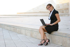 Business woman in the city Stock Photos