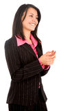 Business woman clapping Stock Photos