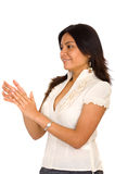Business woman clapping Royalty Free Stock Photos