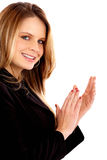 Business woman clapping Stock Photography