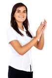 Business woman clapping Stock Image
