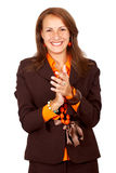 Business woman clapping Royalty Free Stock Photo