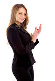 Business woman clapping Royalty Free Stock Image