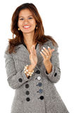 Business woman clapping Stock Images