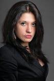 Business woman classic dark portrait Stock Photography