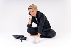 Business woman cleaning Stock Photos
