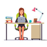 Business woman or a clerk working at her desk Royalty Free Stock Photography