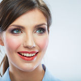 Business woman close up face portrait. Female model close up. Face Royalty Free Stock Images