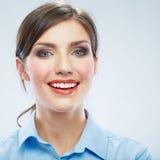 Business woman close up face portrait. Female model close up Stock Images