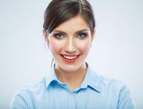 Business woman close up face portrait. Female mode Stock Images