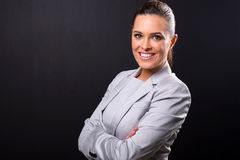 Business woman close up royalty free stock photography
