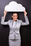 Business woman cloud Royalty Free Stock Photos