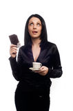 A business woman with coffee Royalty Free Stock Image