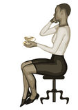Business woman and coffee Royalty Free Stock Photos