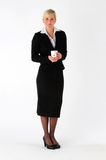 Business woman with coffee mug royalty free stock images