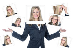 Business woman collage Royalty Free Stock Photo