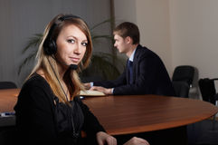 The business woman with the colleague Royalty Free Stock Photos