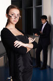 The business woman with the colleague Stock Images