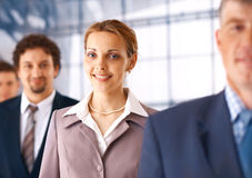 Business Woman With Colleagues. stock images