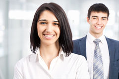 Business woman with colleagues Royalty Free Stock Image