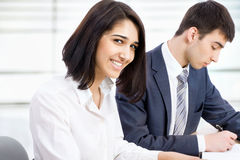 Business woman with colleagues Royalty Free Stock Photo