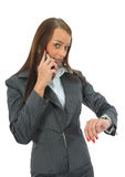 Business Woman Colling Royalty Free Stock Photos