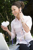 Business Woman Communicating On Cell Phone Stock Photo
