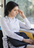 Business Woman Commuting Royalty Free Stock Photos