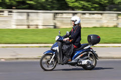 Business woman commuting Stock Photo