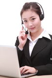 Business woman with computer Royalty Free Stock Photos