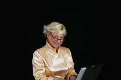 Business woman on computer Stock Image