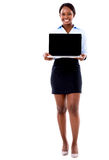 Business woman with a computer Royalty Free Stock Images