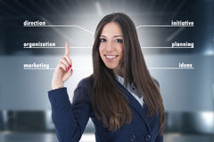 Business woman concepts. Modern business woman on background, portraits, and executives stock images