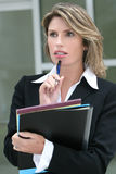 Business Woman, Concerned, Worried Royalty Free Stock Image