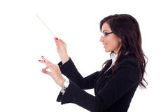 Business woman conducting her business Royalty Free Stock Photos