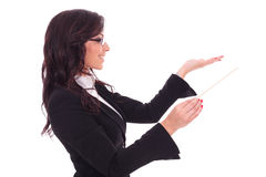 Business woman conducting Royalty Free Stock Image