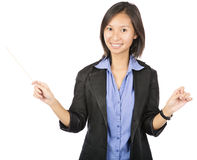Business woman conductor Royalty Free Stock Photography