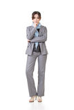 Business woman contemplate Stock Images