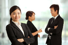 Business woman in a corporate environment Stock Images