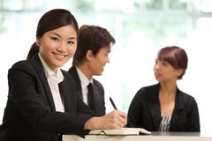 Business woman in a corporate environment Stock Image
