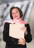 Business woman in a corporate environment Stock Photos
